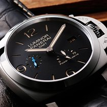 Panerai Luminor 1950 3 Days GMT Power Reserve Automatic Zeljezo 44mm Crn Arapski brojevi