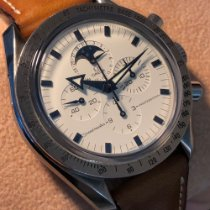 Omega Speedmaster Professional Moonwatch Moonphase Staal 42mm Wit