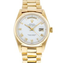 Rolex Day-Date 36 Or jaune 36mm Blanc