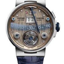 Ulysse Nardin Marine Grand Deck 18K White Gold Men's Watch