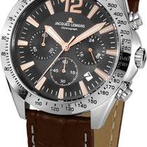 Jacques Lemans Chronograph 42mm Quartz new Grey
