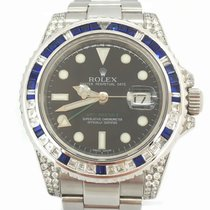 Rolex GMT-Master II Diamonds Baguette Saphir Box/Papers