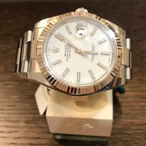 Rolex Datejust White-Index-Oyster 126334