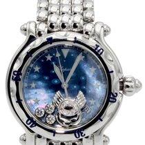 Chopard Happy Zodiac Blue Dial 3 Floating DIA Cancer Steel...