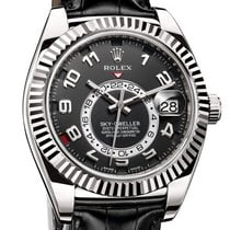 Rolex Sky-dweller White Gold Leather - 326139
