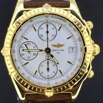 百年灵  Chronomat Chronograph Yellow Gold 39MM Box&Papers/1997 MINT