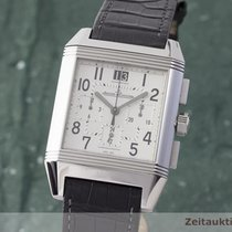 Jaeger-LeCoultre Reverso Squadra Chronograph GMT Staal 35mm Zilver