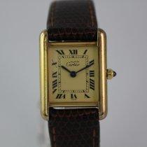 Cartier Tank Vermeil #1027 925 Silber vergoldet
