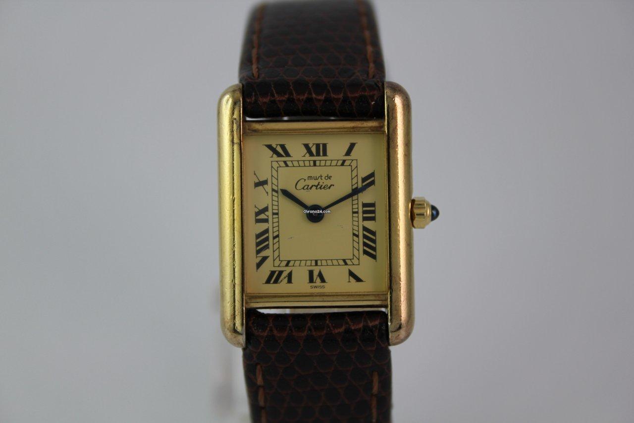 Cartier Tank Vermeil  1027 925 Silber vergoldet eladó 301 529 Ft Trusted  Seller státuszú eladótól a Chrono24-en a082a1de84