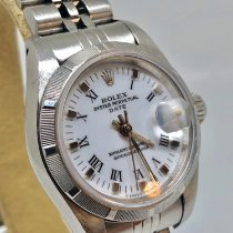 Rolex Oyster Perpetual Lady Date Acero 26mm Blanco Sin cifras