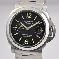 Panerai Luminor Marina Automatic Aço 44mm Preto Árabes