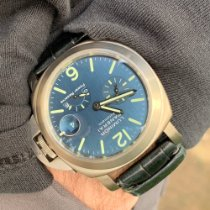 Panerai Luminor Power Reserve pre-owned 44mm Blue Date Buckle