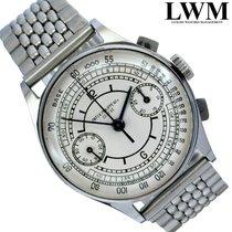Patek Philippe Acero Cuerda manual Plata escluso corona 33mm usados Chronograph