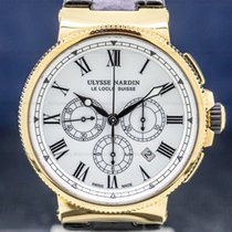 Ulysse Nardin Marine Chronograph Pозовое золото 43mm Белый