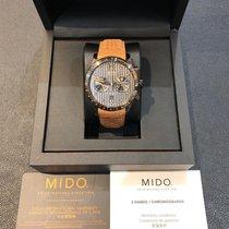 Mido Multifort Chronograph Stahl 44mm Grau