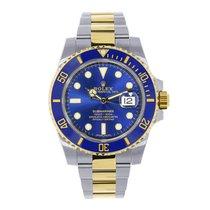 Rolex SUBMARINER Steel & Yellow Gold Blue Ceramic Watch 116613