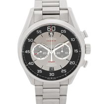 TAG Heuer Carrera Calibre 36 pre-owned 43mm Silver Chronograph Date Steel
