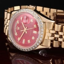 Rolex 1803 YG Day-Date Pres with Red Index on Pres Band