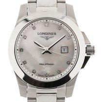 Longines Conquest 29.5mm MoP Diamonds