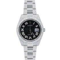 Rolex Datejust II pre-owned 41mm White Date Steel