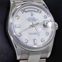 Rolex Day-Date 36 Or blanc 36mm Nacre