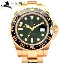 Rolex 116718LN Κίτρινο χρυσό 2006 GMT-Master II 41mm μεταχειρισμένο