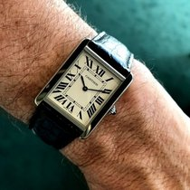 Cartier Tank Solo Staal 34.5mm Wit Romeins