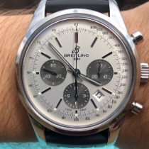 Breitling Transocean Chronograph Acero 43mm Plata