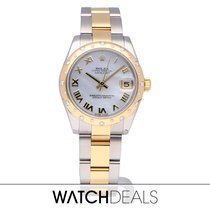 Rolex Lady-Datejust 31 MOP 2012 with B + P NEW ROLEX SERVICE