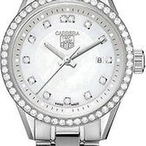 TAG Heuer Carrera Lady pre-owned 27mm Mother of pearl Date Steel