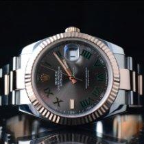 Rolex Datejust II Goud/Staal 41mm Grijs Geen cijfers