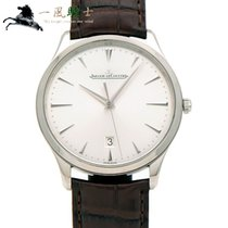 Jaeger-LeCoultre Master Ultra Thin Date pre-owned 40mm Silver Crocodile skin