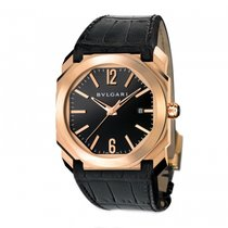 Bulgari Rose gold Automatic Black 41mm new Octo