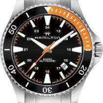 Hamilton Khaki Navy H82305131 Sportliche Herrenuhr 80h...