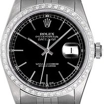Rolex Men's Rolex Datejust Watch 16220 Black Dial