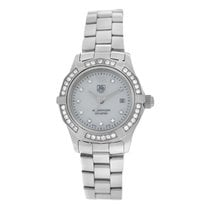 TAG Heuer Ladies  Aquaracer WAF1416 MOP Diamond Steel Quartz