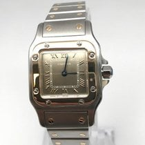 Cartier Santos Galbée Gold/Steel 24mm Grey Roman numerals United States of America, New York, New York