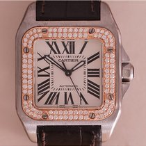 Cartier Santos 100 Medium Model Diamond