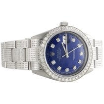 Rolex Mens Rolex 36mm DateJust Diamond Watch Fully Iced Band...