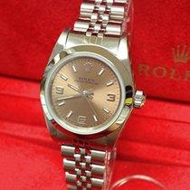 Rolex Oyster Perpetual Aço Cor-de-rosa Árabes