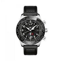 IWC Pilot Chronograph Staal 46mm Zwart