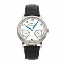 A. Lange & Söhne White gold Manual winding Silver 39mm pre-owned 1815