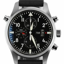 IWC Pilot Double Chronograph Steel 46mm Black Arabic numerals United States of America, New York, Massapequa Park