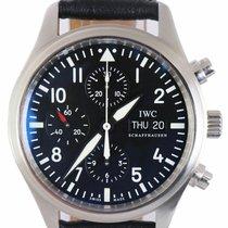 IWC Pilot Chronograph Acero 42mm Negro Árabes