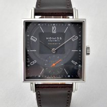NOMOS Tetra Neomatik pre-owned 39mm Blue Leather