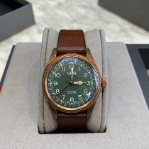 Oris Bronze Automatic Green Arabic numerals 40mm pre-owned Big Crown Pointer Date
