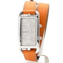 Hermès Cape Cod Steel 41mm Silver No numerals