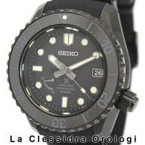 Seiko Titanium Automatic Black 45mm pre-owned Prospex