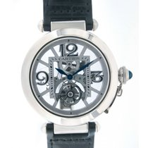 Cartier Pasha Flying Tourbillon Skeleton W3030021 White Gold 42mm