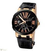 Ulysse Nardin Executive Dual Time 18K Rose Gold & Ceramic...